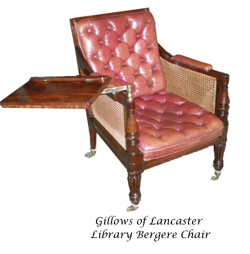 Gillows of Lancaster Library Bergère Chair