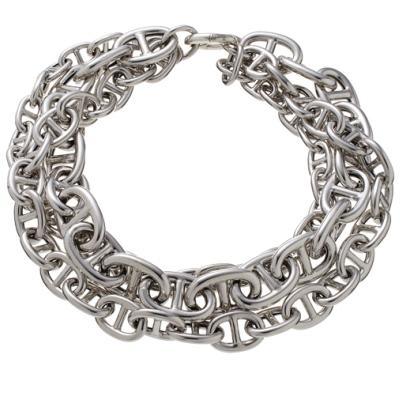 collana argento maglia marina