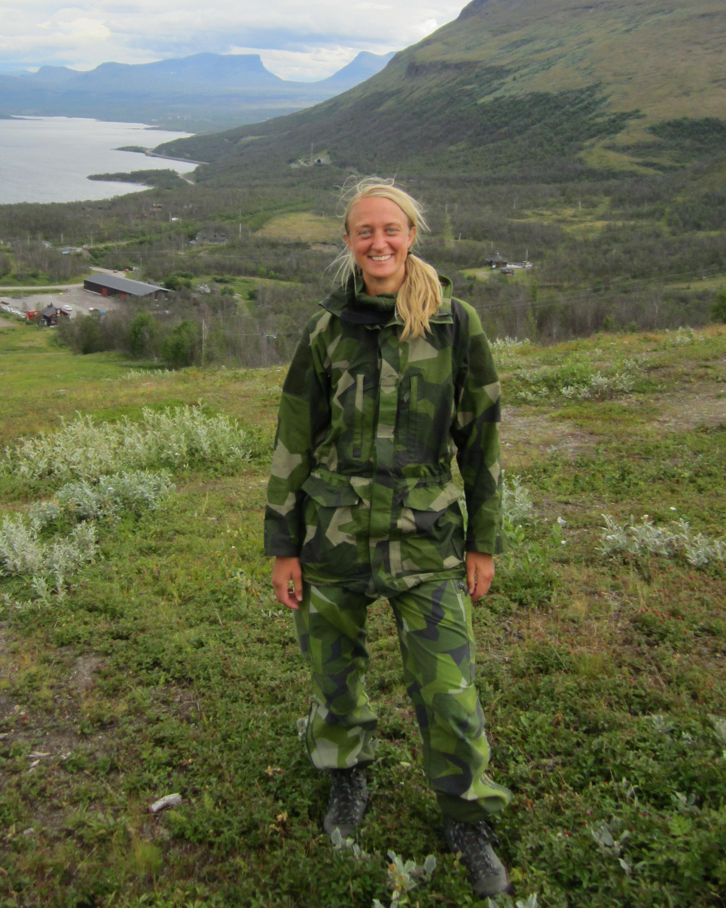Johanna Sjöberg Militär övning i fjällen 2013