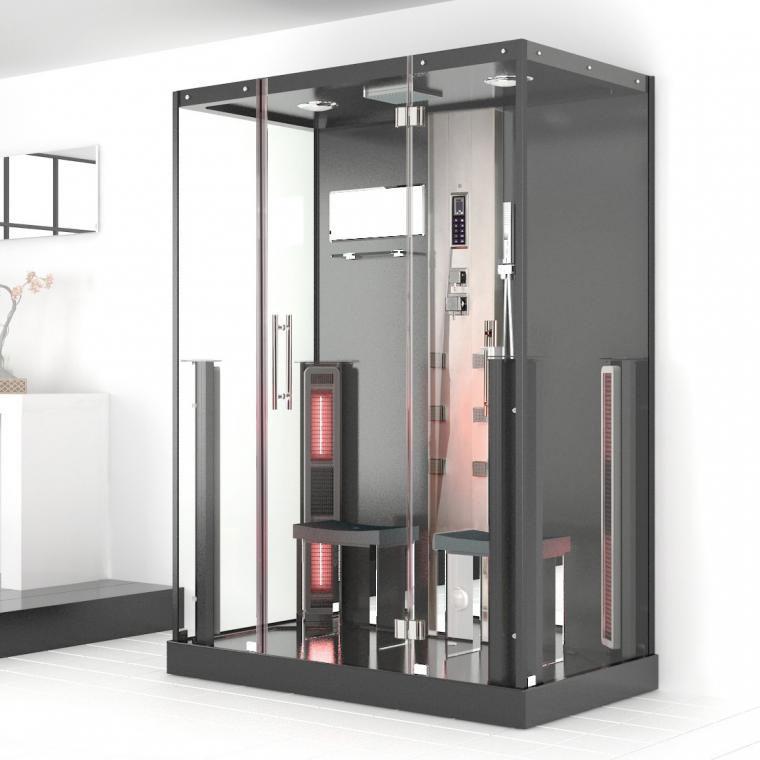 infrar d duschkabin. Black Bedroom Furniture Sets. Home Design Ideas
