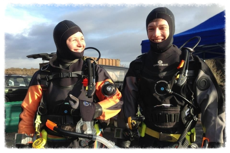 Divers completing open water diver course