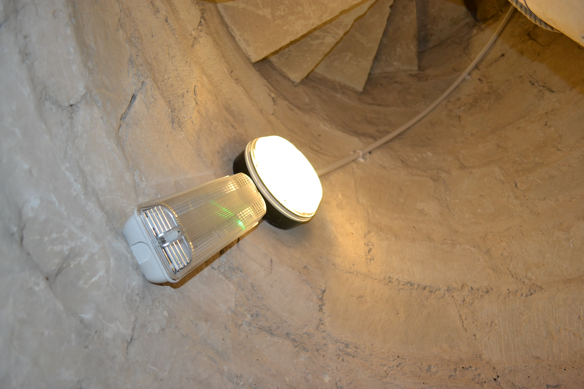 new escape and stair lighting bell tower