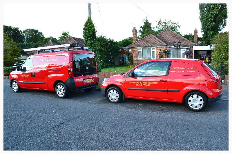 some of our service and contracting vans