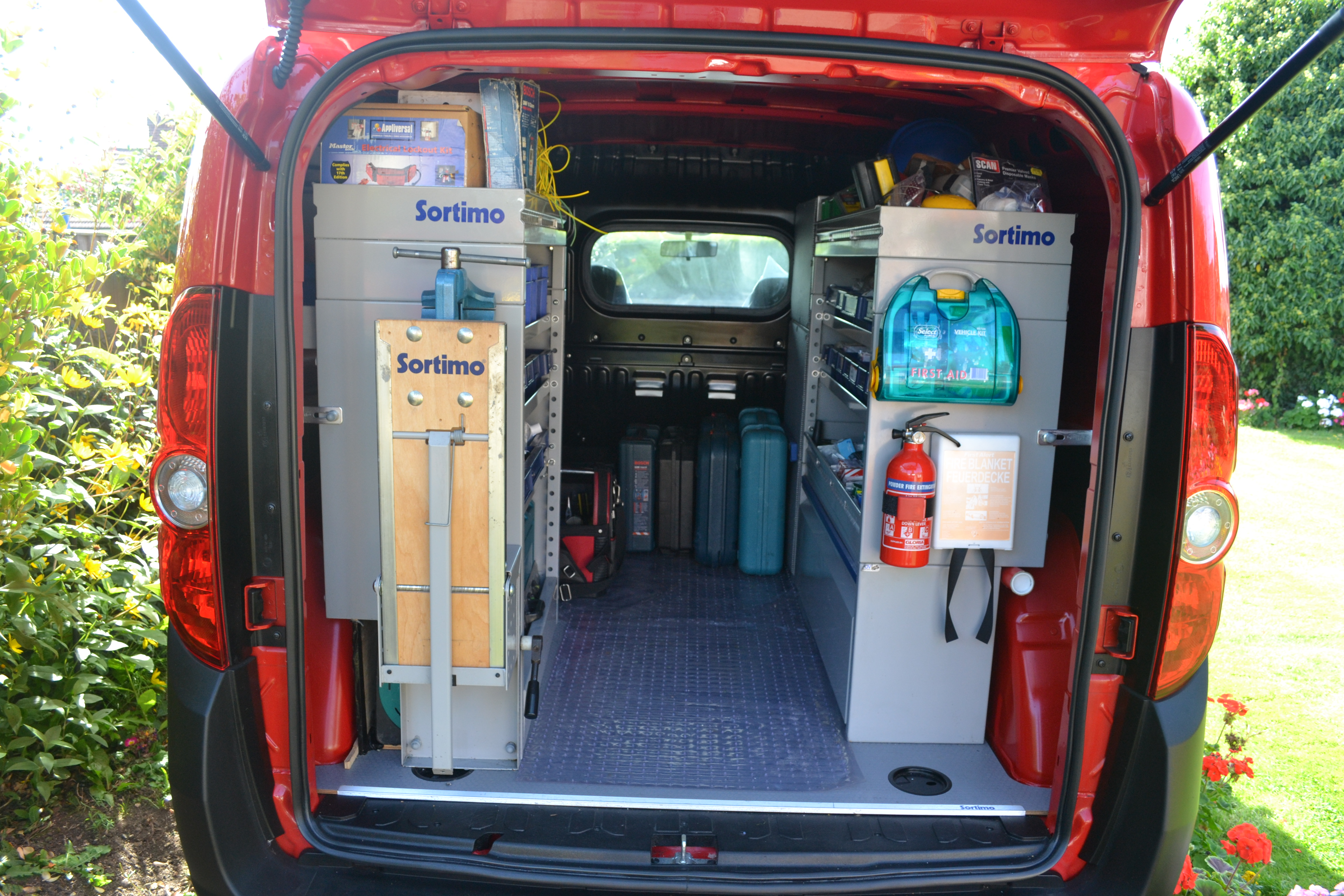 Contracting van fitted with Sortimo systems