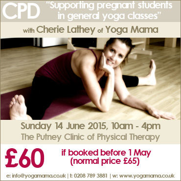 Pregnancy Yoga CPD workshop. Sunday 14 June 2015, 10am - 4pm