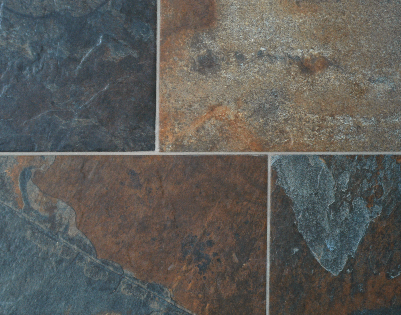 Slate wall and floor tiles