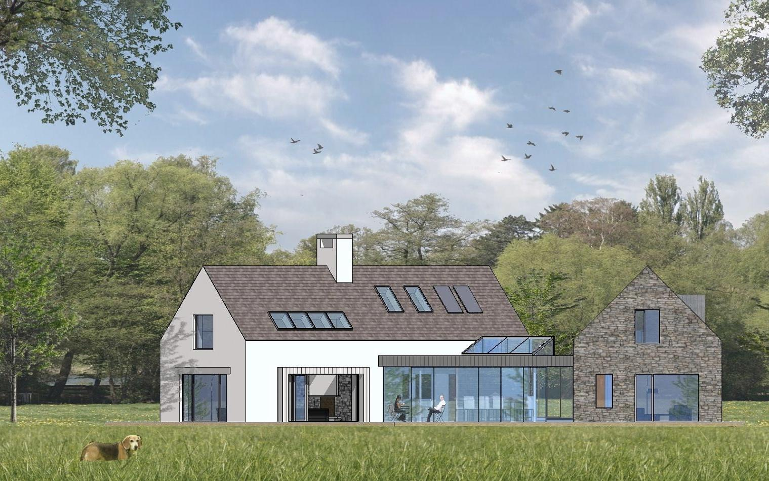 4 bed contemporary vernacular for Modern irish house architecture