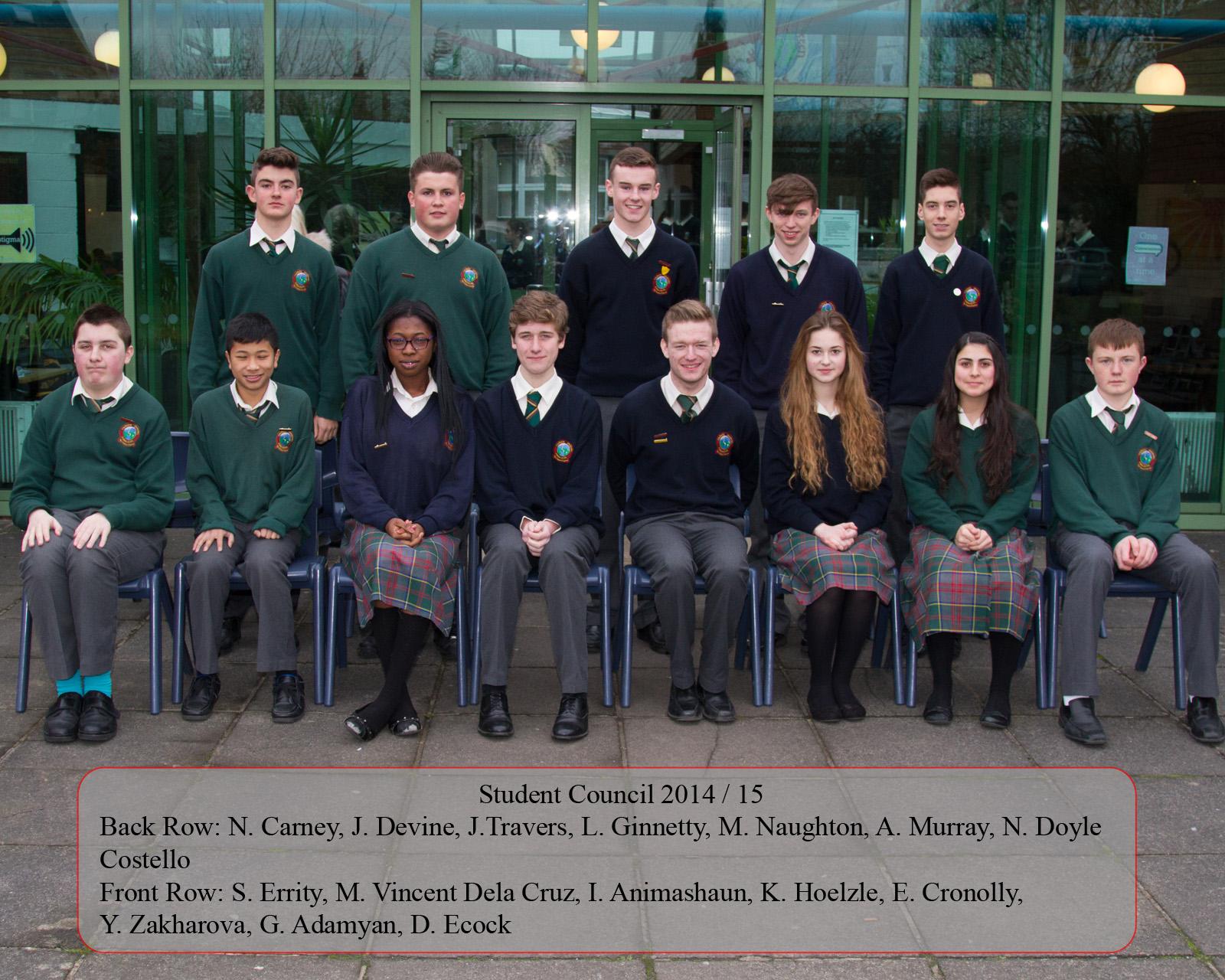 student council colaiste chiarain