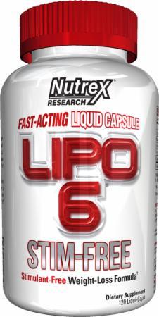 Sallutar Suplementos Lipo 6 STIM-FREE 120 caps NUTREX