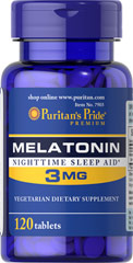 Melatonina 3mg 120 tabs Puritan's Pride