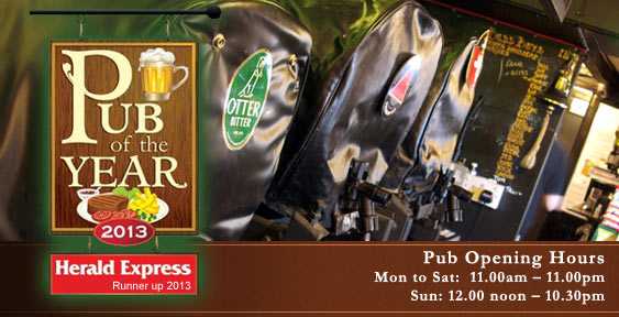 Real Ale at The Two Mile Oak Inn Newton Abbot