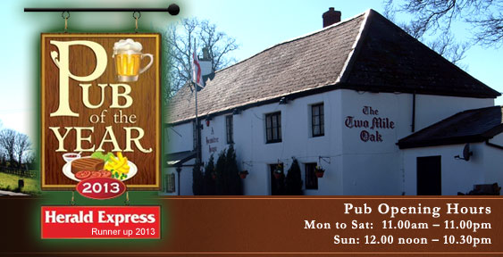 Visit The Two Mile Oak Inn Newton Abbot