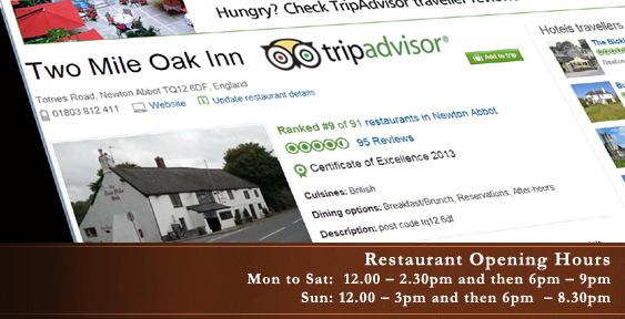 Trip Advisor at the Two Mile Oak