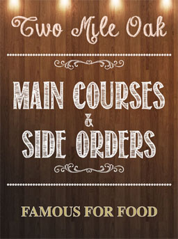 Main Courses and Side Orders