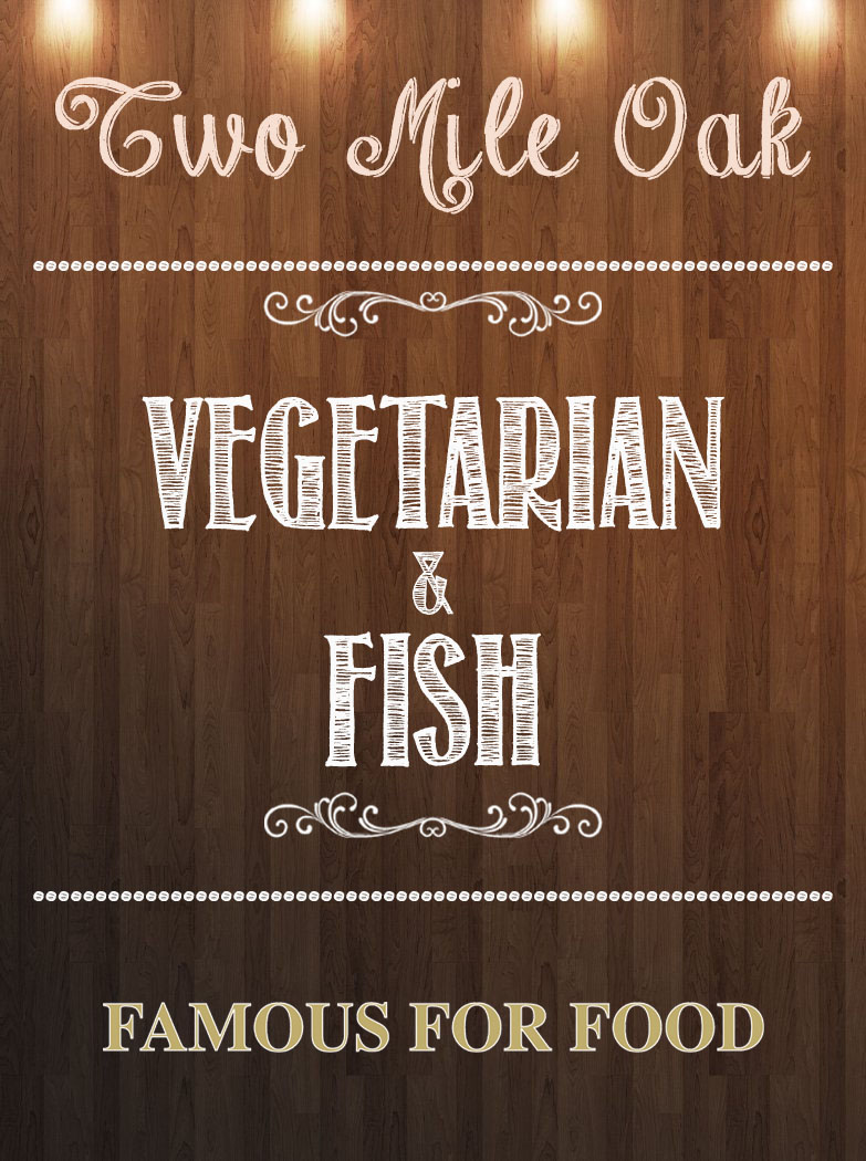 Vegetarian and Fish @ The Two Mile Oak