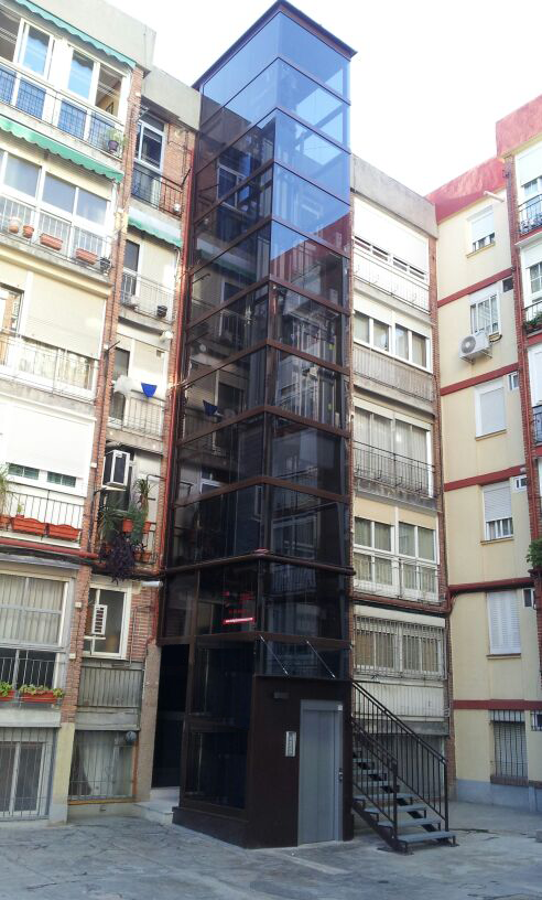 instalacion de ascensores en fachadas y patios madrid