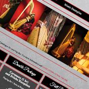 Bronwen Wilkins Hereford Harpist, Website Design, Branding Design, Leaflet Design, Business Card Design, Herefordshire