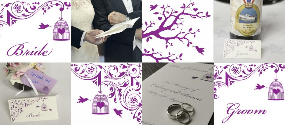 Wedding Stationary Design by Creative Munkey. Eastnor Castle Herefordshire