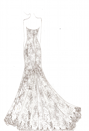 custom made lace vintage and bespoke wedding dresses in