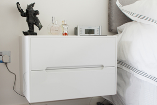 High Gloss Floating Bedside Units Hertfordshire