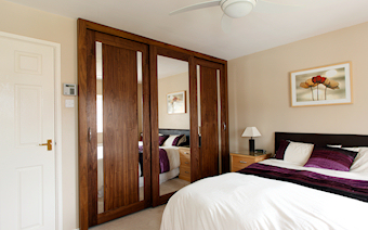 walnut sliding wardrobes Biggleswade-Bedfordshire