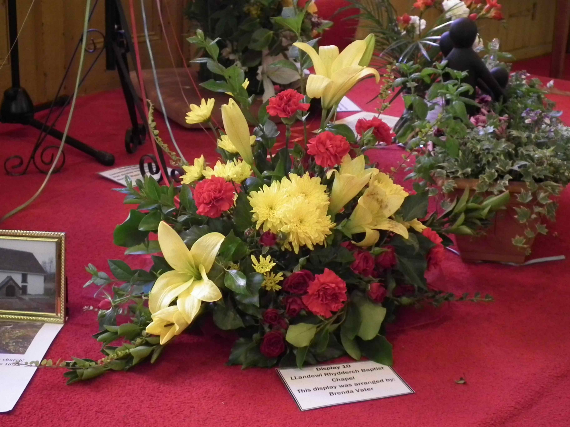 Contribution to Llanwenarth Baptist Chapel Flower Festival