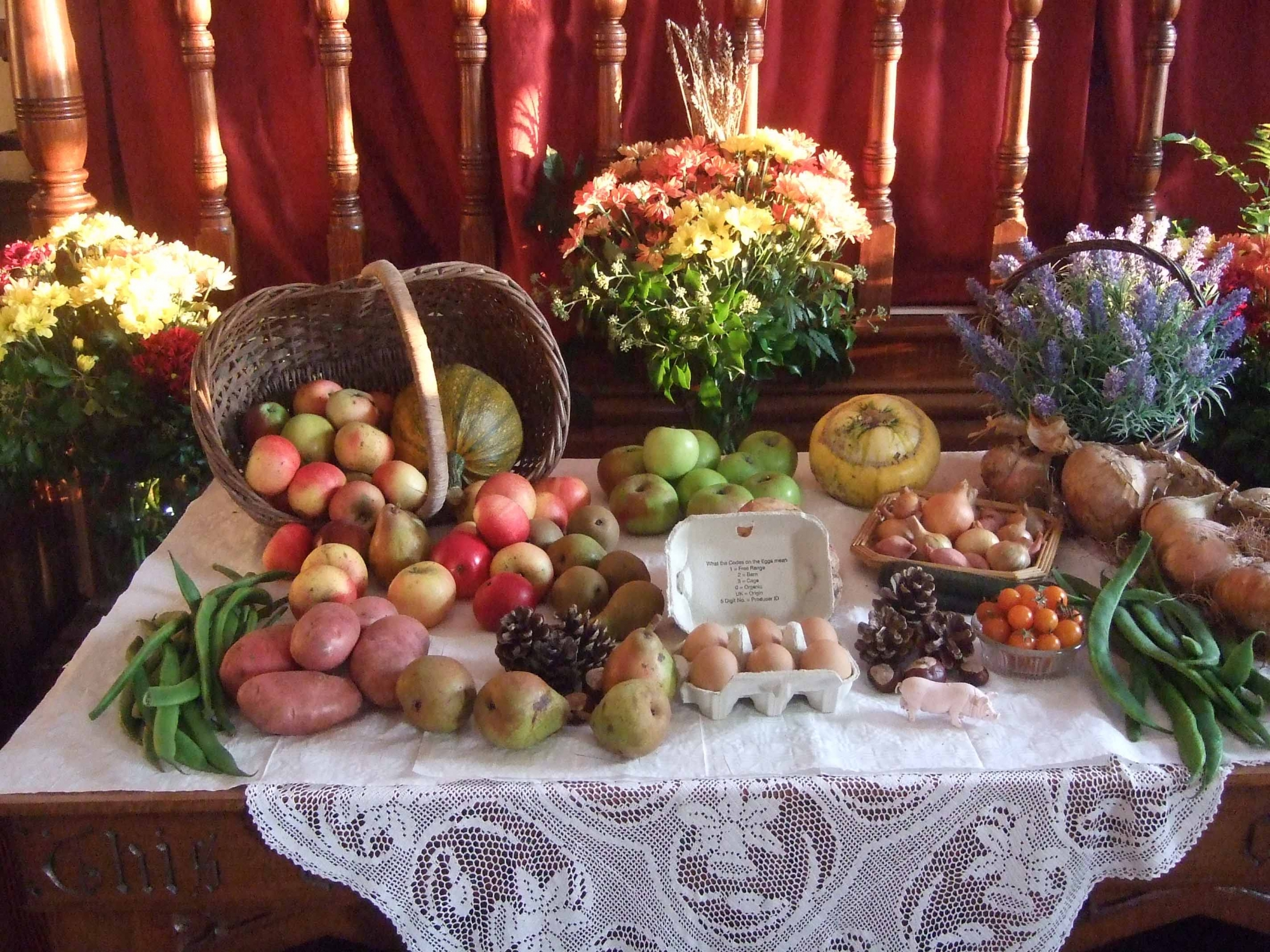 Harvest festival table
