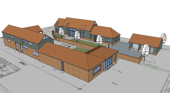 Barn conversion Upper weybread Suffolk