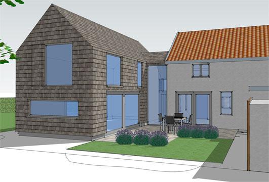Shingle House extension Fressingfield