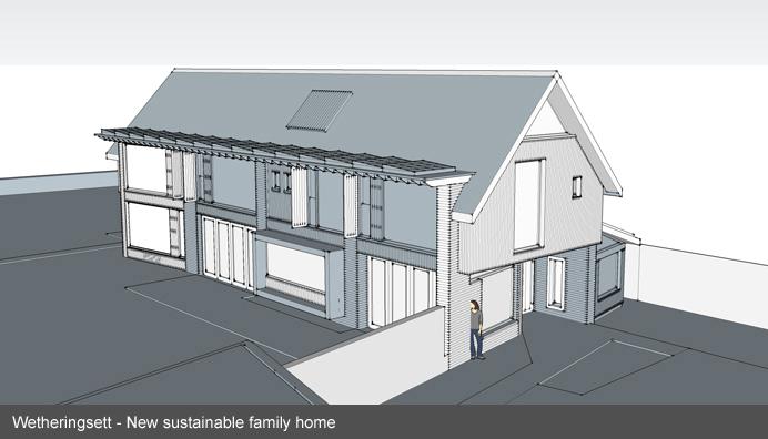 New eco house Wetheringsett