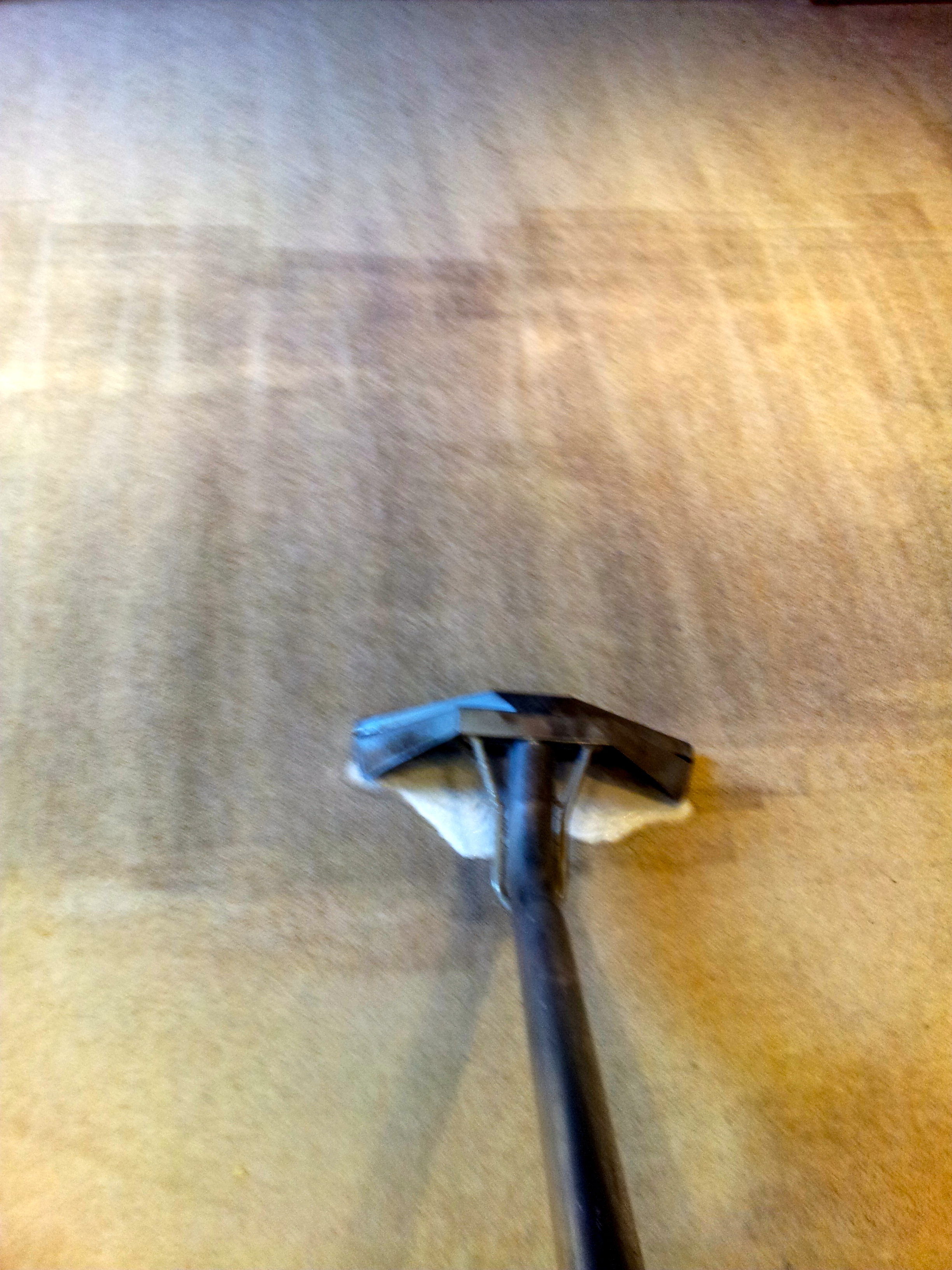 Example of a heavily soiled carpet being extracted with a top of the range ProChem 500psi twin vacc